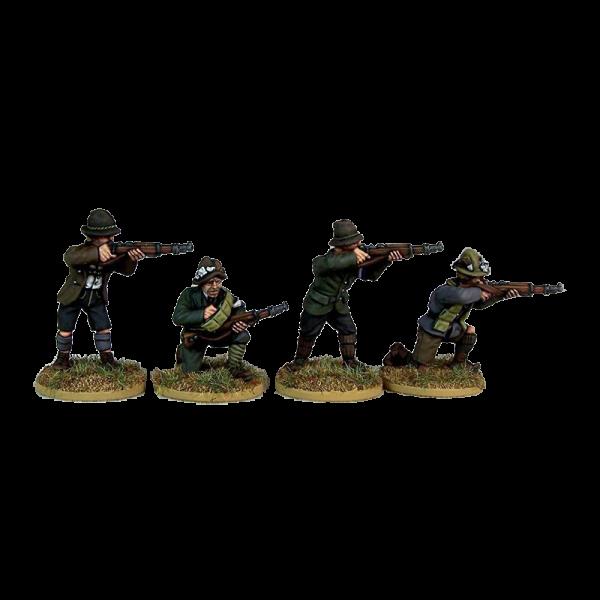 Freikorps Werdenfels Riflemen Firing for interwar German Revolution 1918-1919 front painted view.