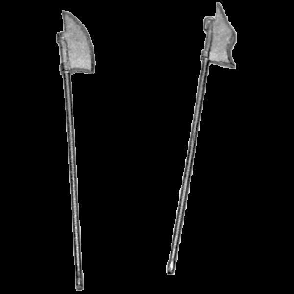 14th Century Billmen 1 pack Billhook weapons front view.