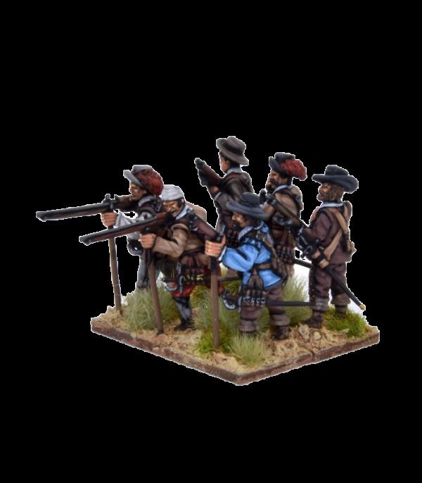 Spanish Tercios Musketeers Firing 1 view B.