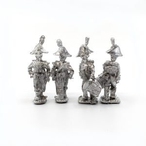 Spanish Musketeer Command pack, including two officers, and two drummers.