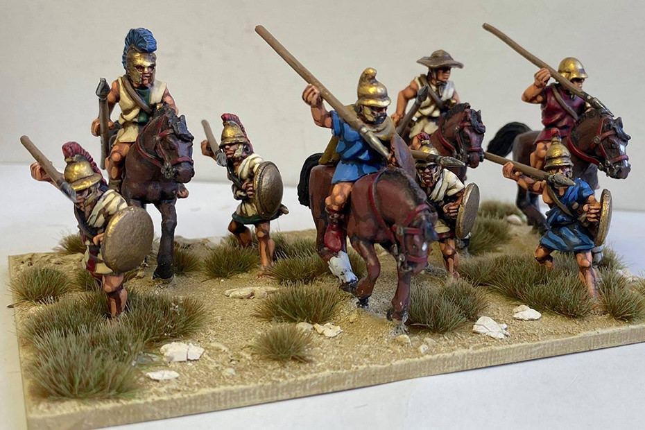 Greek Calvary by Wargames Foundry, painted by Nathan Vinson.