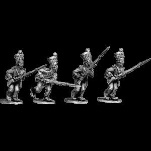 Gwalior Infantry Sepoy Advancing, fully uniformed wearing shakos.