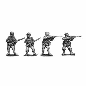 Italian riflemen wearing helmets 2