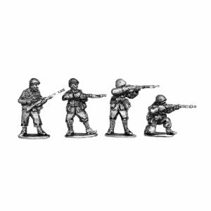 Italian riflemen wearing helmets 3