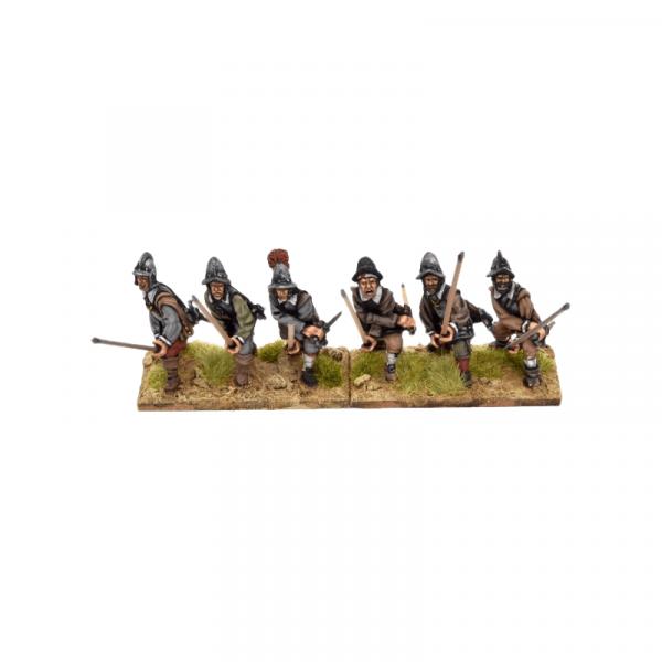 Spanish Tercios Armoured Pikemen Receiving Calvary B